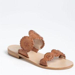 Jack Rogers Tan Lauren Sandals Size 6M